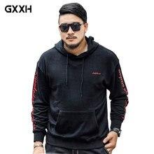 GXXH Men's Hoodie 2018 Autumn Fashion Brand Pullover Print Lettering Sportswear Sweatshirt Large Size XXL-5XL 6XL 7XL Sweatshirt