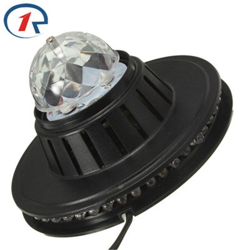 ZjRight 3W RGB girasol LED Bombilla lámpara rotación automática MP3 cristal etapa luz DJ karaoke fiesta familiar cumpleaños regalo luces