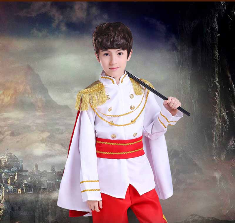 Fantasia Boys Kids Prince King Cosplay Fancy Dress Boys Carnival Cosplay Costume Birthday Gift For Kids Boys Child 2-12T halloween purim costumes for kids girls carnival the king prince costume for boy boys children fantasia infantil cosplay child