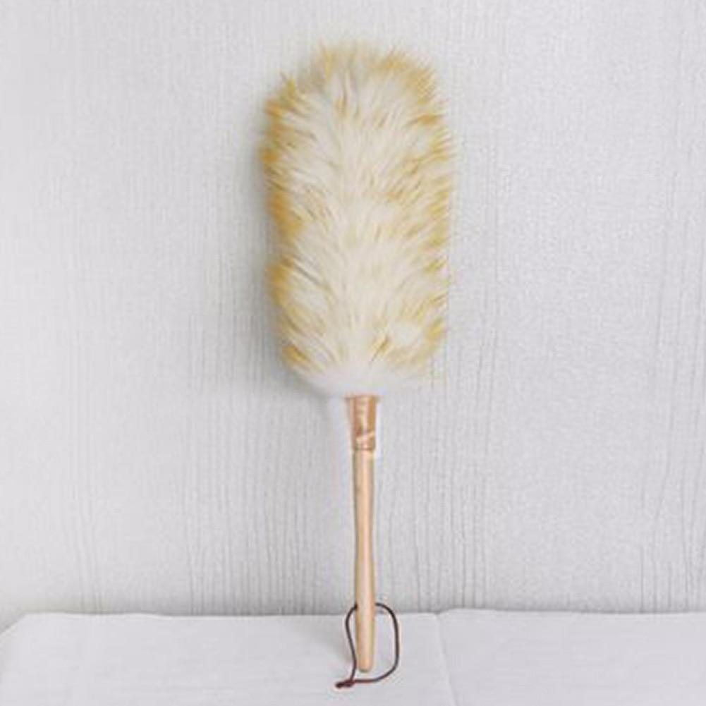 Висячая веревка из овечьей шерсти, Современная противостатическая Нескользящая мебель для дивана, деревянная ручка для домашней уборки, длинная мягкая защита от пыли