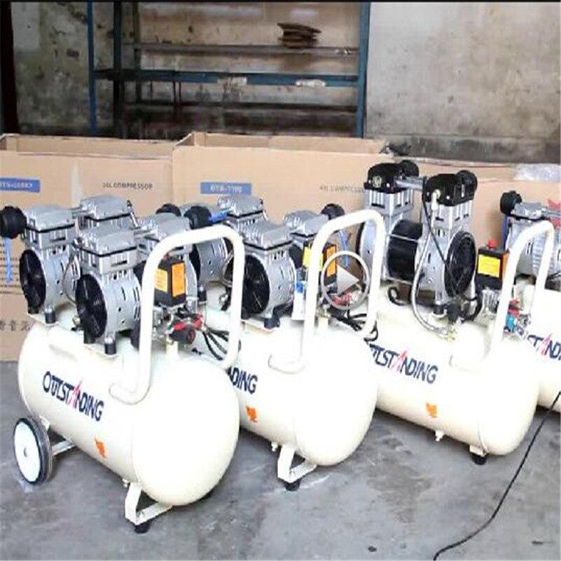 Compresseur dair sans huile pompe à gaz haute pression pulvérisation compresseur dair à bois petite pompe 3 * 1100-100L
