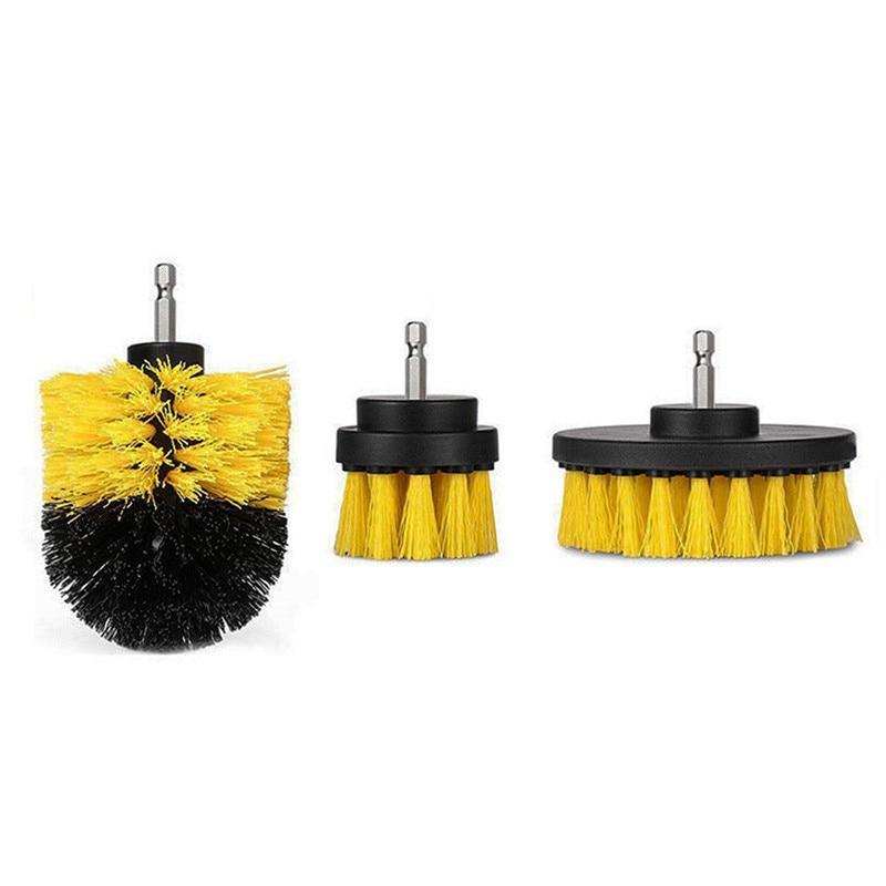 3 uds cepillo de taladro eléctrico 2/3. 5/4 pulgadas cepillo de limpieza para el interior del coche de los muebles bañera de baño ducha azulejo de limpieza