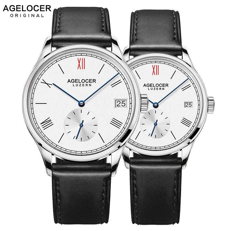 AGELOCER Men Watch Swiss Top Brand Luxury Mechanical Watches 2019 Women Men Stainless Steel Bracelet Watches For Couple Lovers