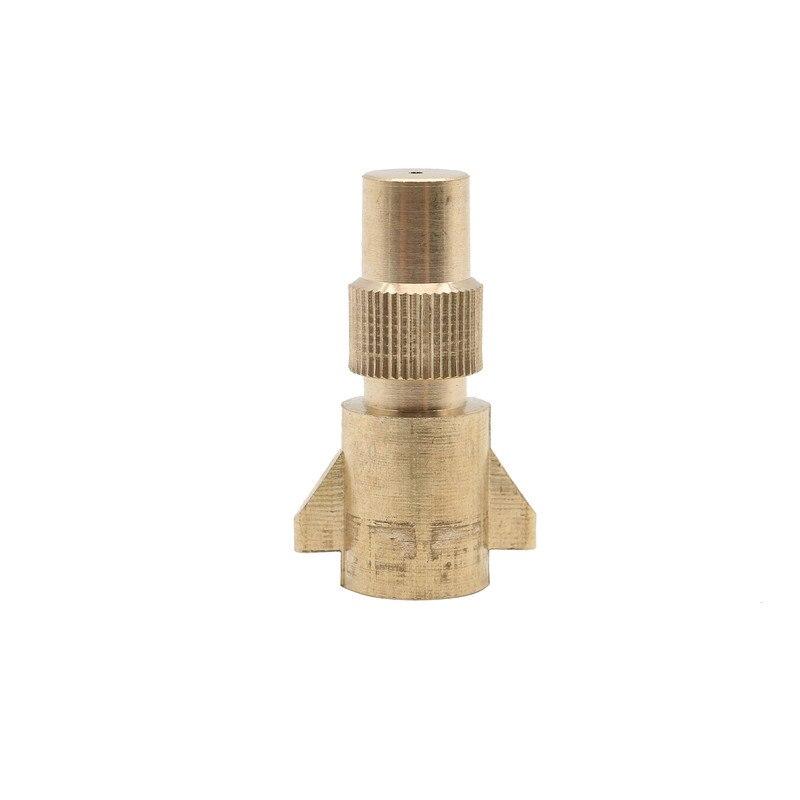 2 piezas/lote boquilla de rociador de cobre de atomización Extra gruesa boquilla de orificio único pulverizador para jardinería accesorios cabeza de estilo plano