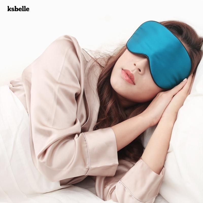 Reutilizável Elétrico A Vapor Aquecido Seda Máscara de Olho Olho Calmante Stress Alívio Da Seca Os Olhos Círculo Escuro Quente Unscented Travesseiro Olho para sono