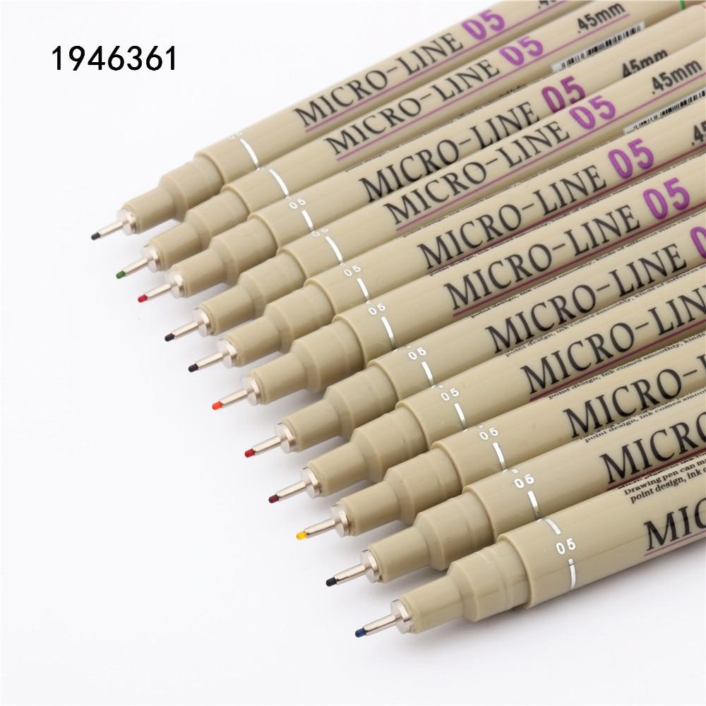 Высокое качество, 05 цветов, чернильная ручка, студент, школа, офис, рисование, микро линии, тонкие ручки, скетч, манга, художественные маркеры