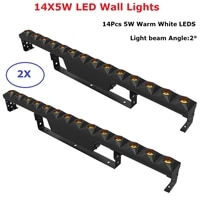 2xlot led bar lights warm white 14x5w led wash wall lights dmx beam lights perfect for stage dj party wedding events lighting