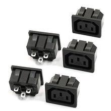 Prise de courant connecteur de Type pince   5 pièces, IEC 320 C13 sortie de panneau, connecteur AC 250V 10A