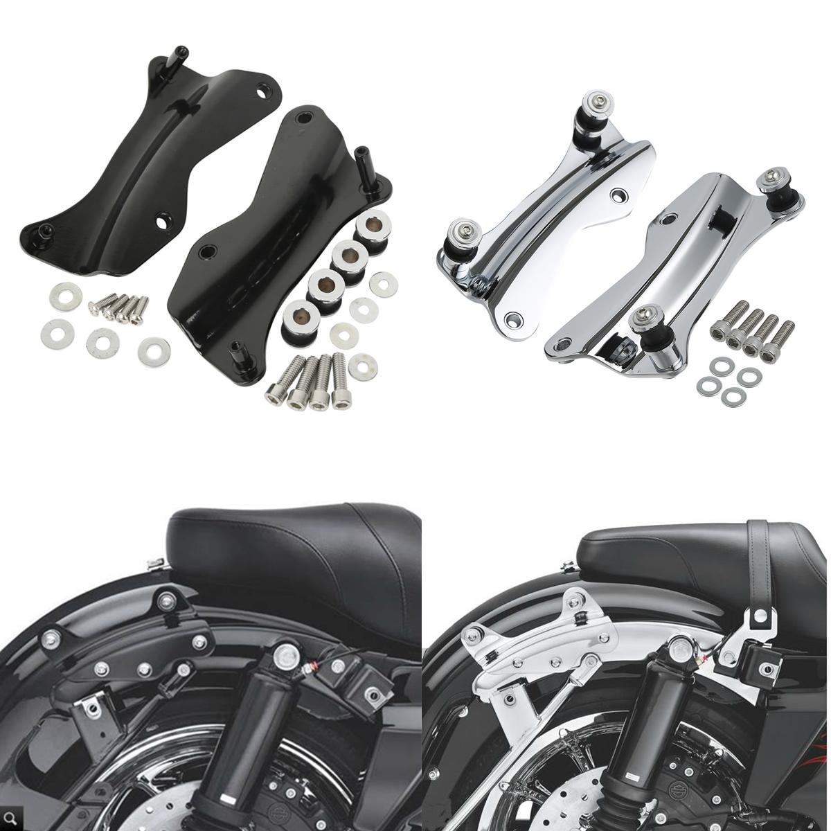 Kit de accesorios de acoplamiento de 4 puntos para motocicleta Harley Road King Street Electra Glide 2014-2019 15 16 17 18 negro/cromo