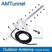 Антенна yagi 13dBi GSM, уличная антенна 806 ~ 960 МГц с кабелем 5 м, Разъем N для CDMA800MHz booster GSM900MHz усилитель