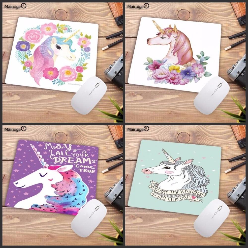 Mairuige מגניב חדש Cartoon Unicorn מותאם אישית מחשב נייד משחקי מהירות משטח עכבר גודל עבור 18x22cm 20x25 סנטימטר 25x29cm גומי Mousemats