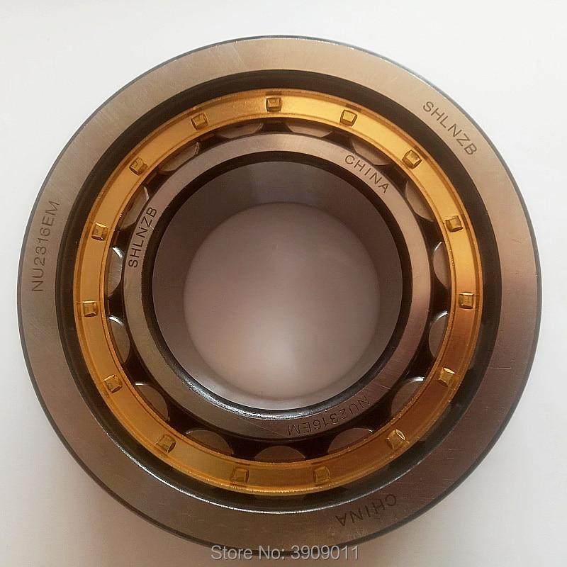 SHLNZB تحمل 1 قطعة NU348EM NU348ECM NU348 NU348E NU348M C3 240*500*95 مللي متر النحاس قفص محامل البكرة الأسطوانية