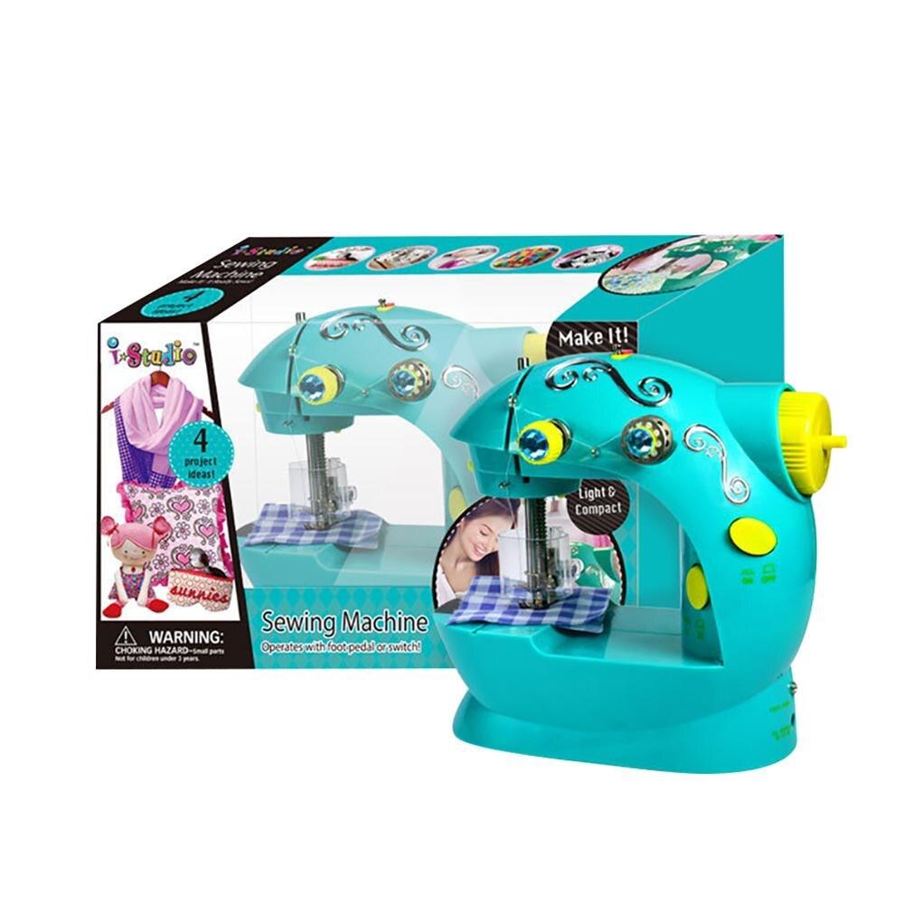 Mini Multi-função do Agregado Familiar Presente Das Crianças Brinquedo Portátil Máquina De Costura Elétrica