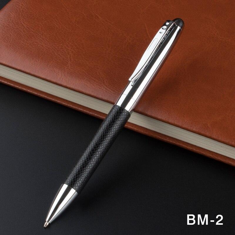 Роскошная кожаная ручка для письма, усовершенствованная шариковая ручка из нержавеющей стали, вращающаяся металлическая шариковая ручка, ...