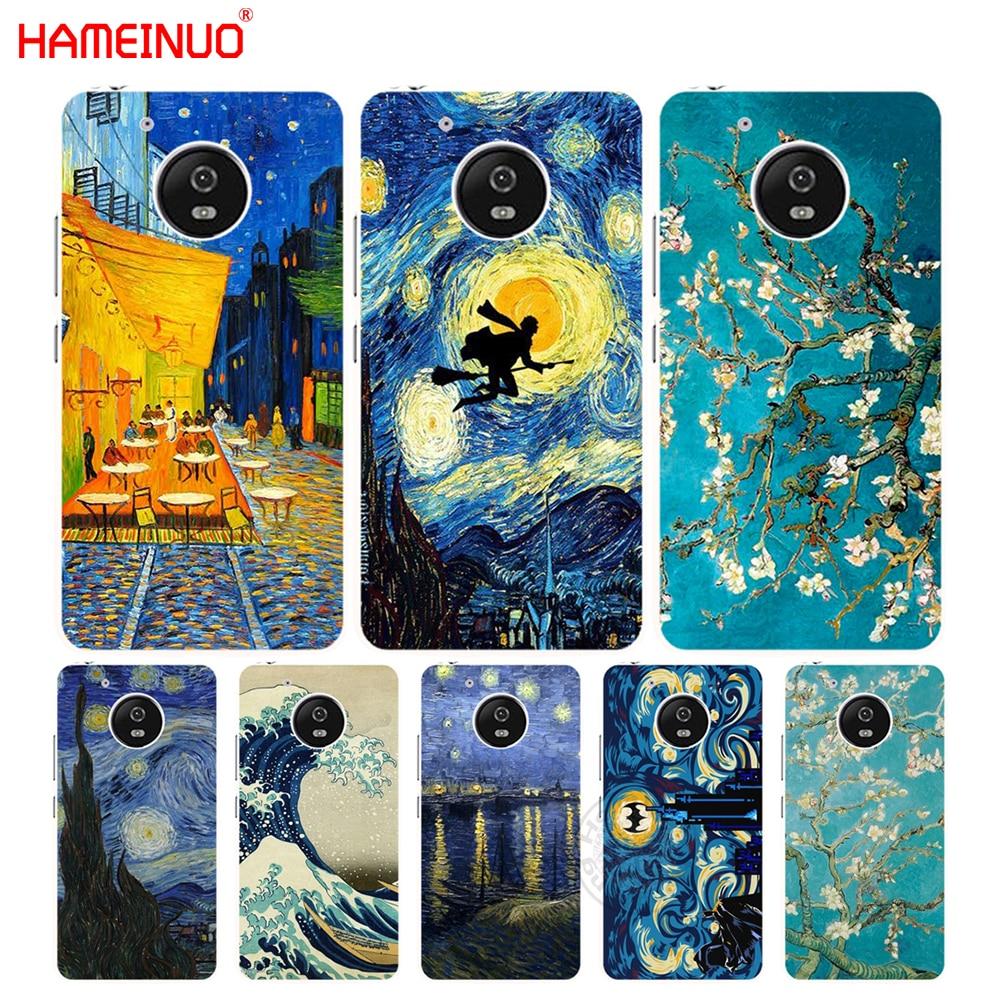 HAMEINUO Vincent Van Gogh Starry Sky Oil case cover for Motorola Moto G6 G5 G5S G4 PLAY PLUS ZUK Z2 pro