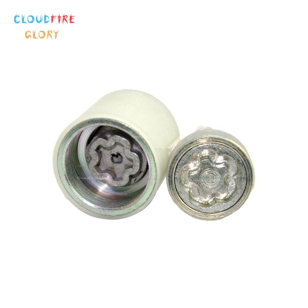 CloudFireGlory 4F0698139C 805x2 serrure de roue antivol vis cosse boulon & clé outil Code timbre