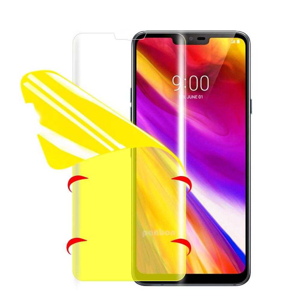 Protector de pantalla Nano de cubierta completa 7D para LG G5 G6 G7 G8 V20 V30 V40 Protector de pantalla Hydrogel película protectora LG G 5/6/7/8 V20/30/40