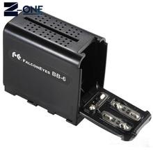 BB-6 6 pièces AA batterie boîtier support de batterie puissance comme NP-F NP-970 série batterie pour panneau de lumière vidéo LED/moniteur