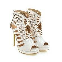 Plus Big Size 28-52 schoenen vrouwen sandalen Sexy Mode hoge hakken 11.5cm sandalen sapato feminino zomer stijl party schoenen 588-1