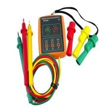 3 Phase testeur de Rotation numérique indicateur de Phase détecteur LED + Buzzer SM852B séquenceur de Phase 60V ~ 600V ca triphasé