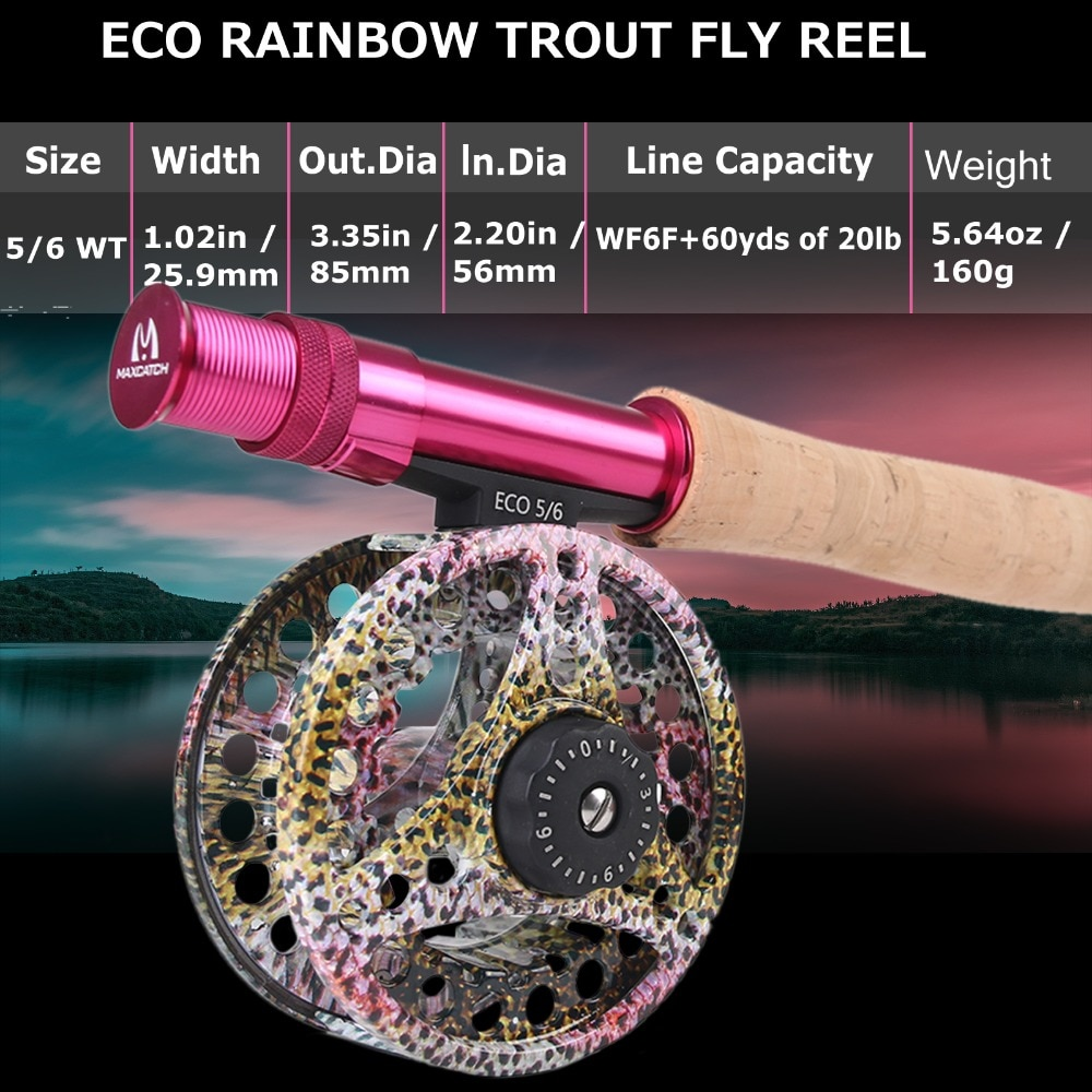 Maximumcatch 6'6''/9'0'' 2/5wt Fly Fishing Rod Kit Fly Rod and Fly Reel Combo with Fishing Lure Line Box Set Fishing Rod Tackle enlarge