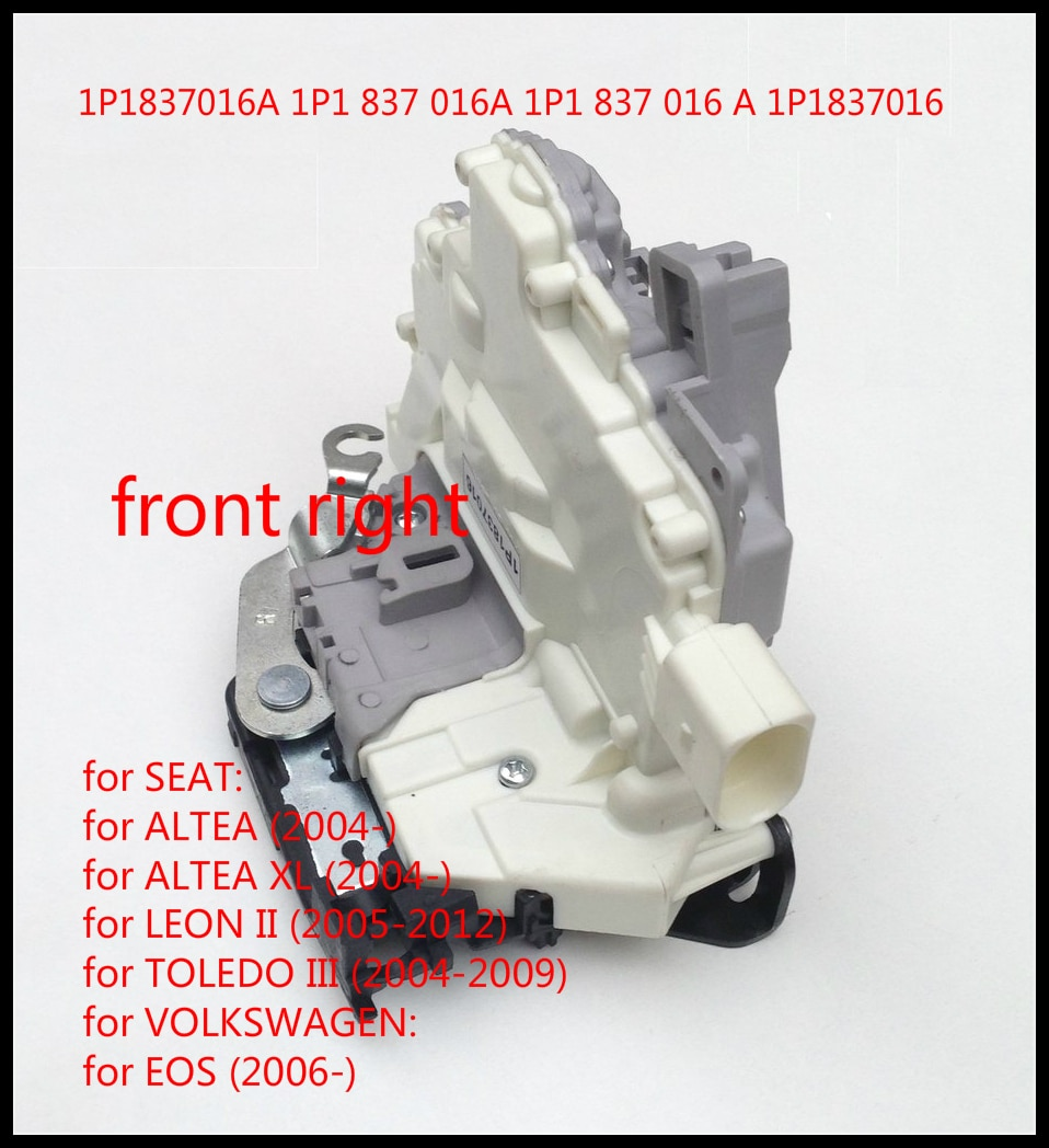 Для Seat Altea Толедо 3 mk3 Leon Altea XL 5P1 5P2 1P1 5P5 5P8/VW EOS 1F7 1F8 передний правый Привод защелки дверного замка 1P1837016