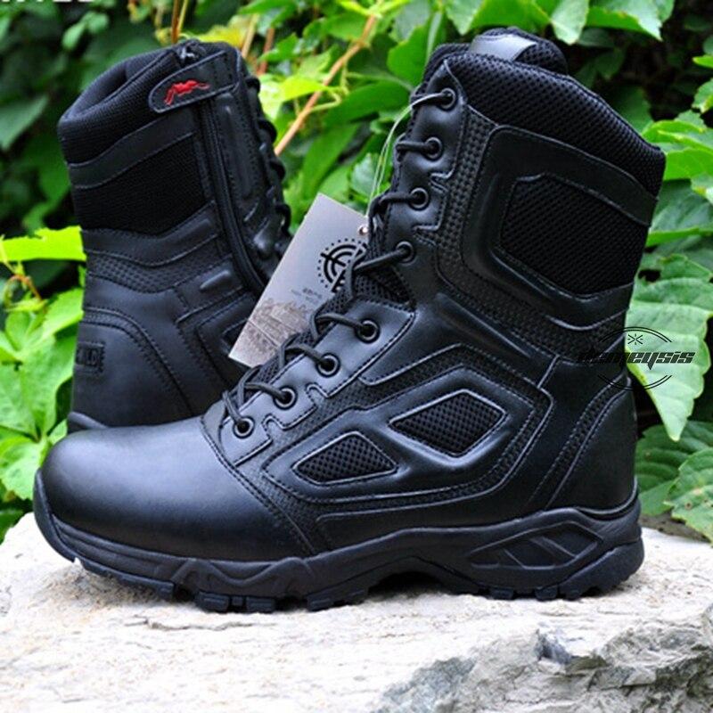 Zapatos de senderismo al aire libre, botas militares altas de desierto para hombres, botas tácticas militares para caza, senderismo, escalada, botas tácticas militares