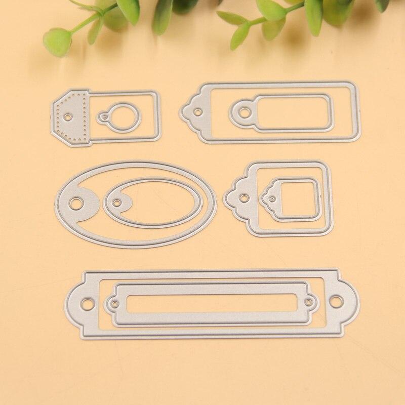 Troquelado de metal para etiquetas, troquelado para álbum de recortes, carpeta en relieve, adecuado para máquina de corte