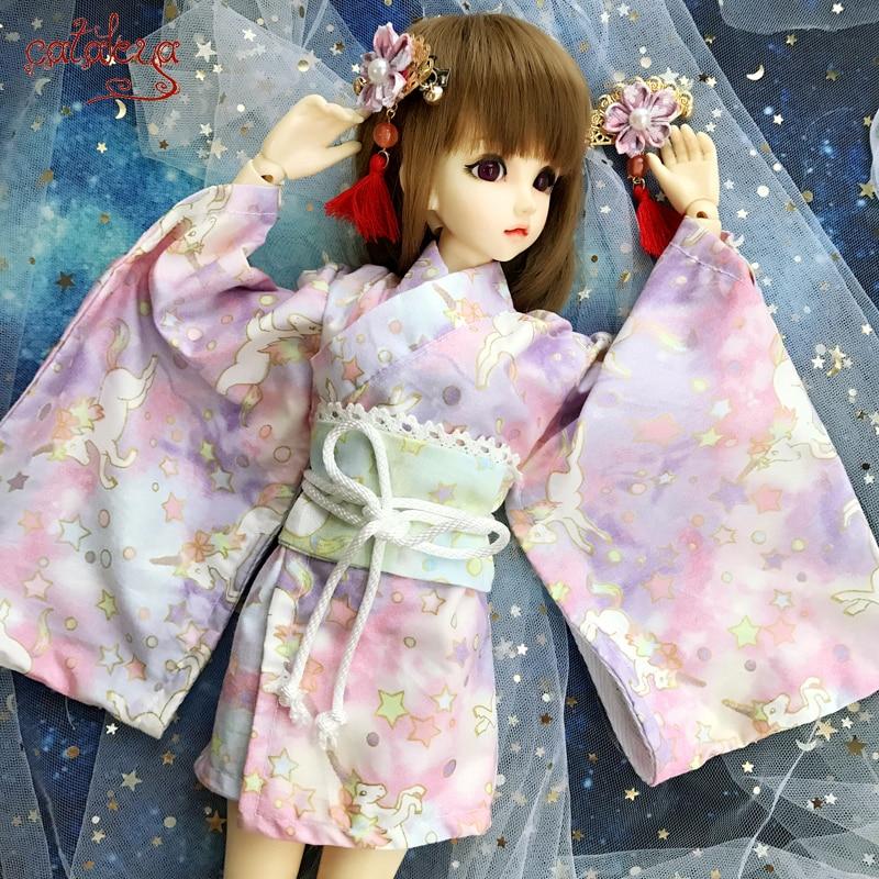Muñeca Cataleya BJD ropa para muñeca SD 1/4 1/6 ropa de muñeca sueño tianma kimono corto franqueo