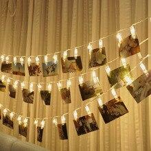 Hochzeit Dekoration Foto Clip Led String licht Personalisierte Starry Foto Halter String Licht Geburtstag Party Weihnachten Decor