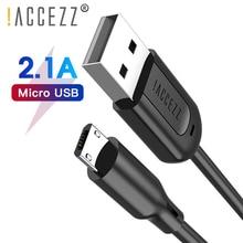 ! Câble de chargement de câble USB accézz ligne de cordon de données pour Android Micro USB pour Samsung S6 S7 Edge Xiaomi Redmi câbles de chargeur de téléphone Huawei