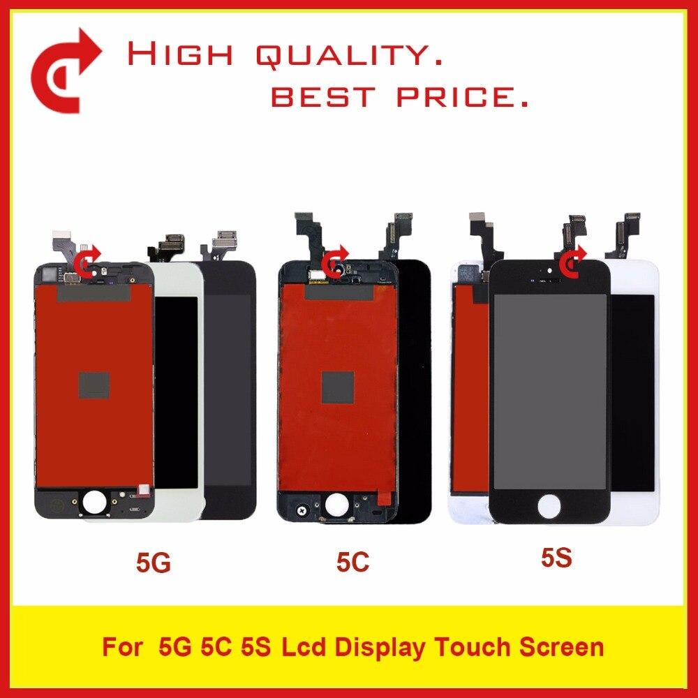 "10 unids/lote 4,0 ""para iPhone 5 5G 5C 5S Pantalla Lcd completa con montaje de digitalizador con Pantalla táctil Pantalla módulo Monitor completo"