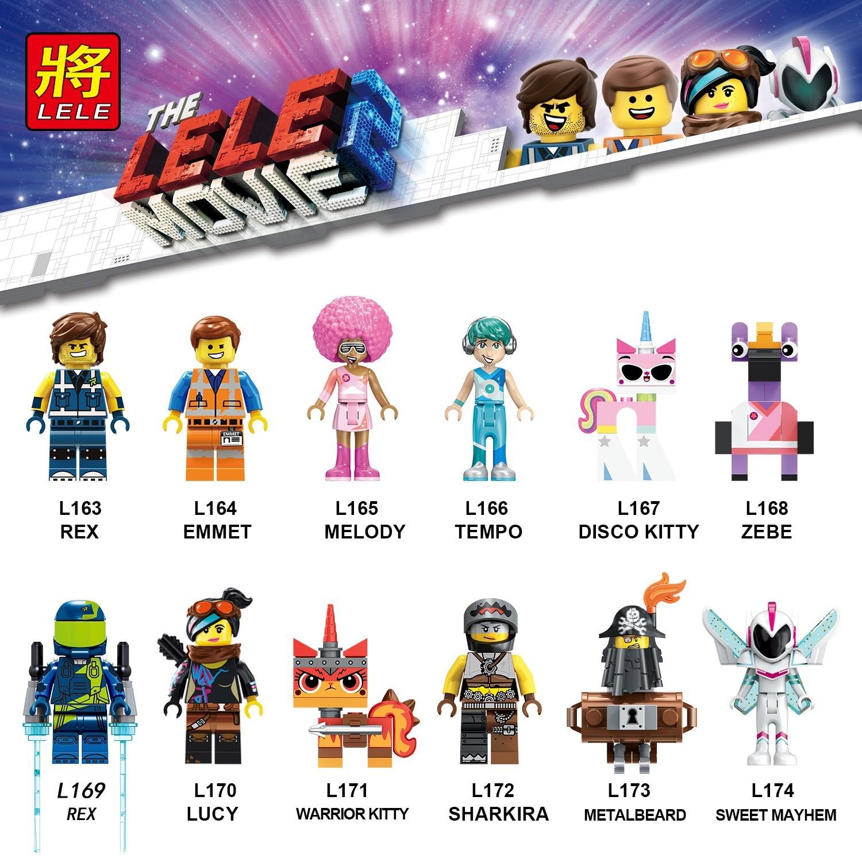 Recién llegado Legoed Rex Melody Disco Kitty dulce Mayhem Playmobil bloques de construcción Minifigured ladrillos juguetes para niños regalo