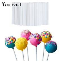 100pcs 10cm Lollipop Stick Food-Grade Plastic Pop Sucker Sticks Cake Pop Sticks For Lollypop Candy Chocolate Sugar Pole