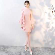 New  Satin Pink Mermaid Bridemaid Dresses 2019 Long Formal Wedding Party Prom Reflective Dresses robe de soiree vestido de noiva