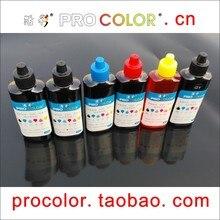 WELCOLOR 6 couleurs PGI-520BKXL 520XL encre pigmentée 521 CLI-521 GY kit de recharge dencre à colorant pour Canon PIXMA MP980 MP990 MP 980 990 imprimante