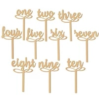 2sets of one to ten party decoration decorations wedding wooden wedding table numbers table decoration