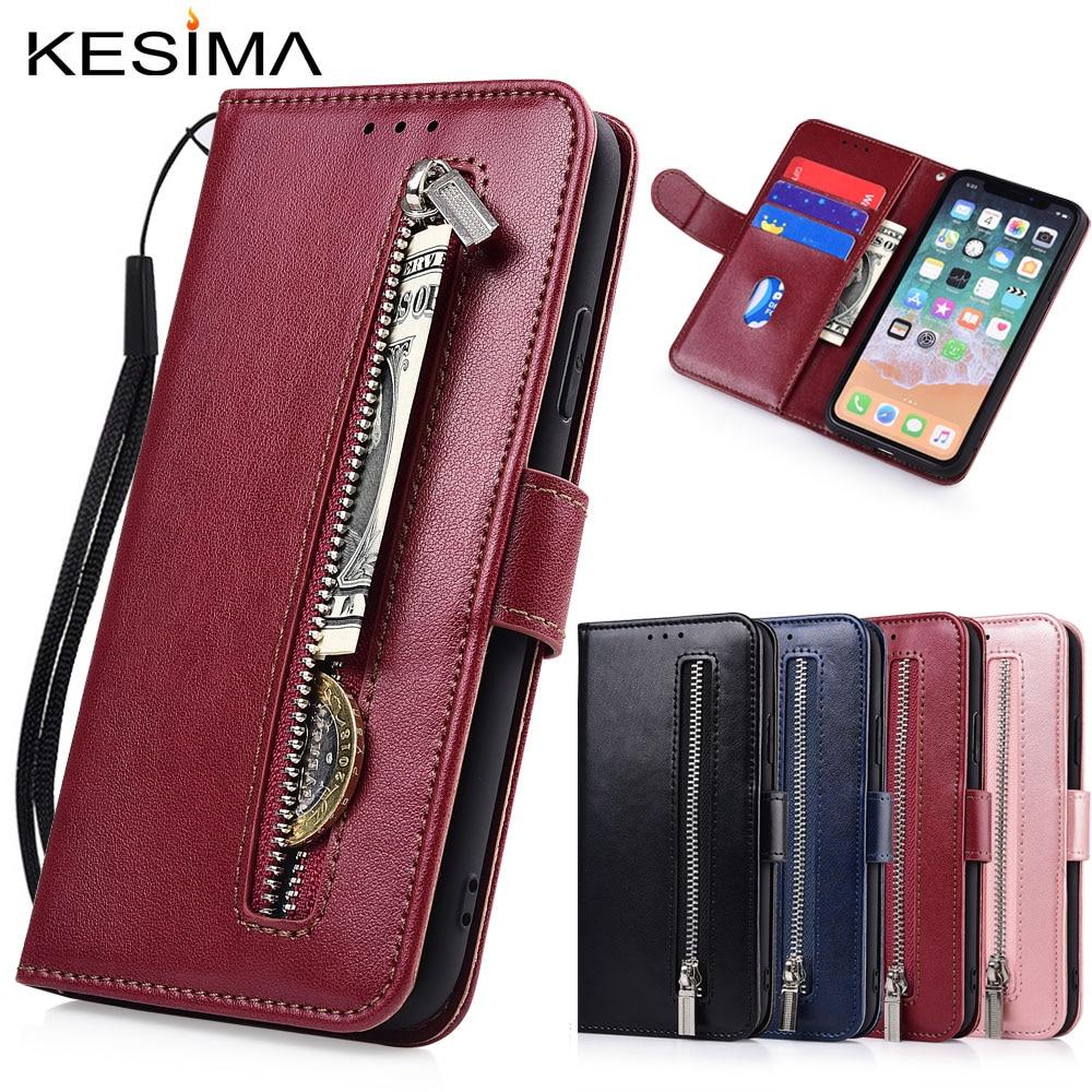 Zipper Flip Wallet Leather Case for Huawei Y5 Y6 Pro Y7 Prime 2019 Y5 Y6 Prime 2018 Y3 2017 Nova 3 4 5 5i Fundas TPU Soft Case