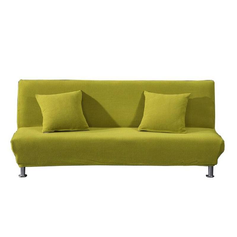 Funda Universal para sofá sin brazos, funda plegable para sofá cama, funda de cama elástica, funda de sofá envolvente para sala de estar