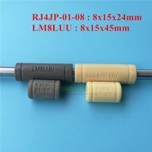 1pcs Solid Polymer LM8LUU Linear Bearings Bushing LML8UU 8MM 8*15*45mm gray yellow for Prusa Mendel 3D printer DIY CNC machine