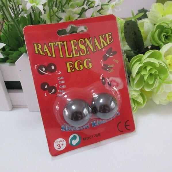 4 paquets/lot 25mm forme boule magnétique Buzz aimants chantant aimants hochet serpent oeufs Relaxation jouets