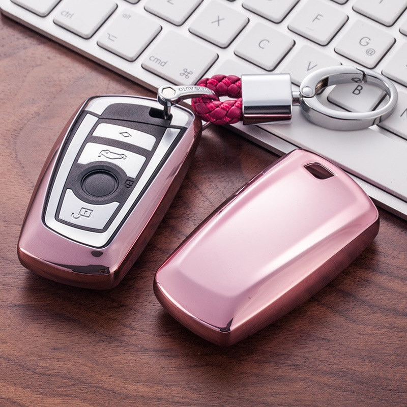 Funda protectora para llave de coche TPU, funda protectora para llave de coche para BMW serie 1/3/5/7 X3 X4 M2/3/4, accesorios coloridos con estilo para coche
