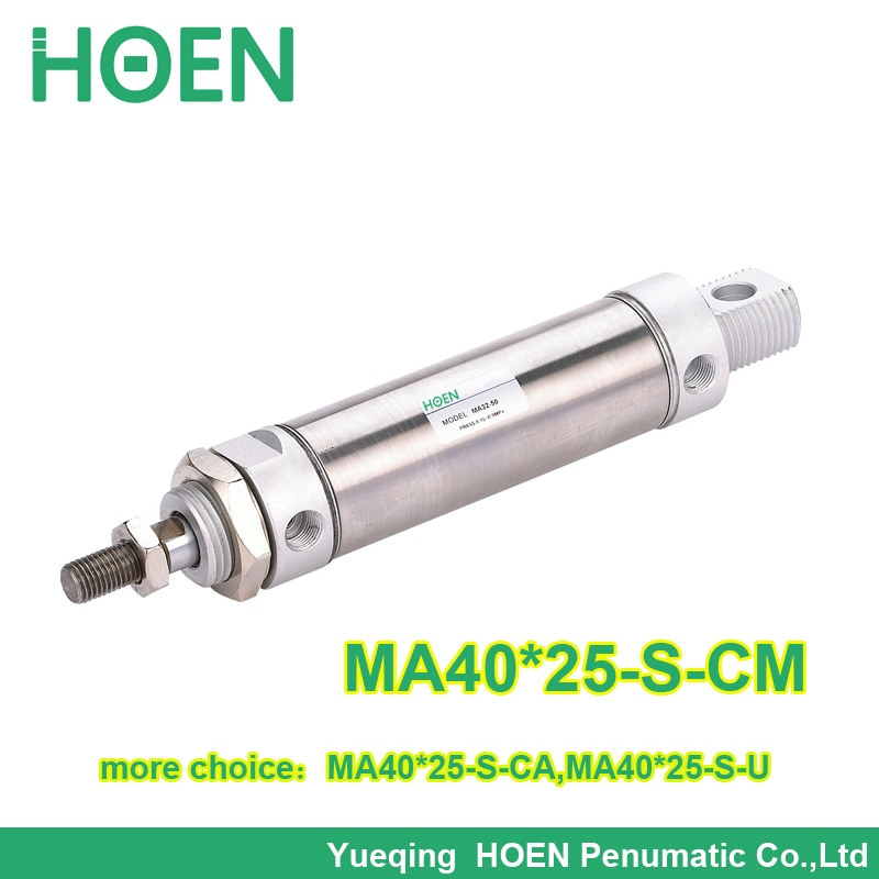 MA40 * 25-S-CM Airtac serie MA Mini cilindro de aire de acero inoxidable con alta calidad MA 40*25 MA40-25 ma 40-25 40x25
