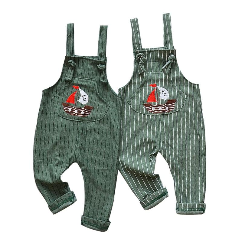 2018 nuevos pantalones de bebé Primavera Verano 100% algodón velero ocio pantalones 0-3 años Mono para niños bebé niño niñas Pantalones