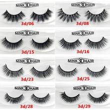 Fashion Handmade 3D Mink Eyelashes Hair Lashes Natural False Eyelashes Mink Eyelash Extension 1 pair in a box