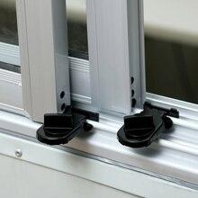 Sliding Sash Stopper Cabinet Locks Straps Doors Security Anti-theft lock Window Sliding Door black Child Safety Doors Lock