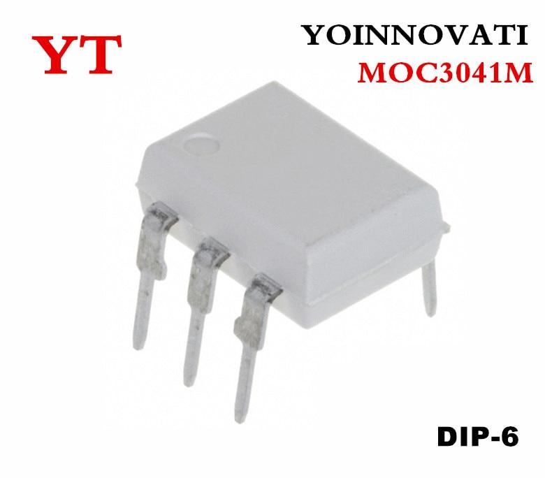 10pcs/lot MOC3041M MOC3041 OPTOCOUPLER TRIAC 400V DIP6 IC