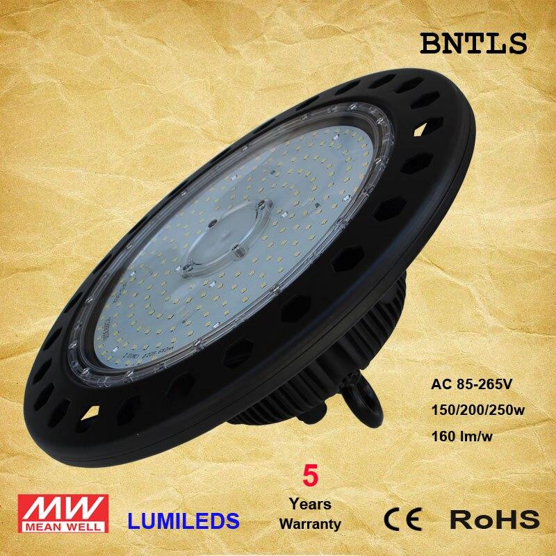 LED UFO High Bay Lights 150W 200W - LED Powered High Bays - (UL+DLC) (6000K) enlarge