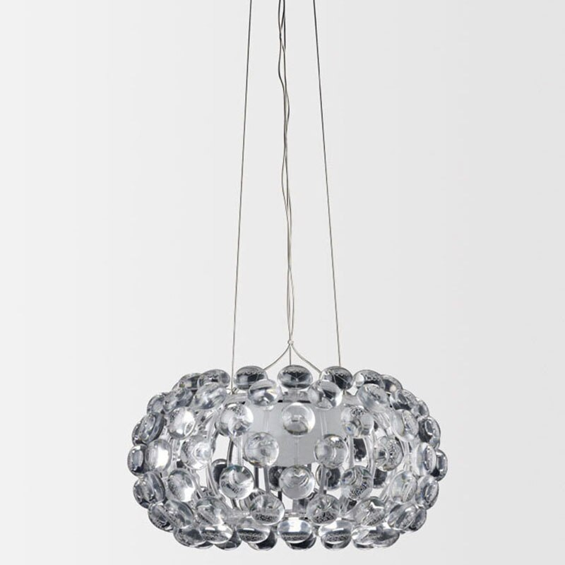 Lámpara colgante de bola acrílica lámpara moderna candelabro D35CM para comedor Sala Hotel R7S fuente de tubo solar
