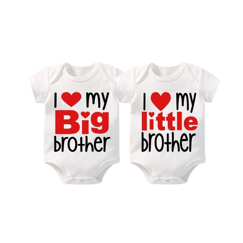 يوسكبوتول-ملابس توأم للأطفال ، هدايا ، أنا أحب أخي الكبير وأنا أحب my little brother ، ملابس توأم ، استحمام الطفل